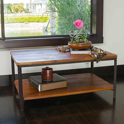 Denise Austin Home Chasham Wood Finish Accent Table