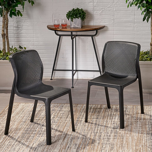 Chelsea Outdoor Plastic Chairs (Set of 2)