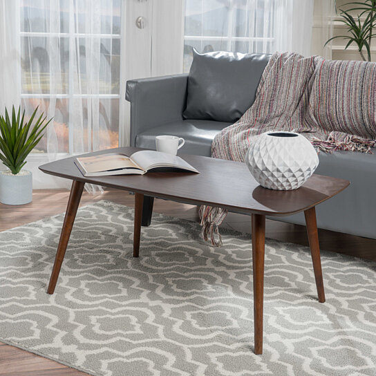 Homcom 40 Mid Century Modern Wooden Coffee Table With: Buy Cilo Mid-Century Design Wood Finished Coffee Table By