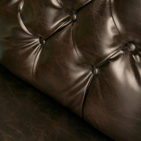Merveilleux Clark Brown Leather Dining Chair (Set Of 2)