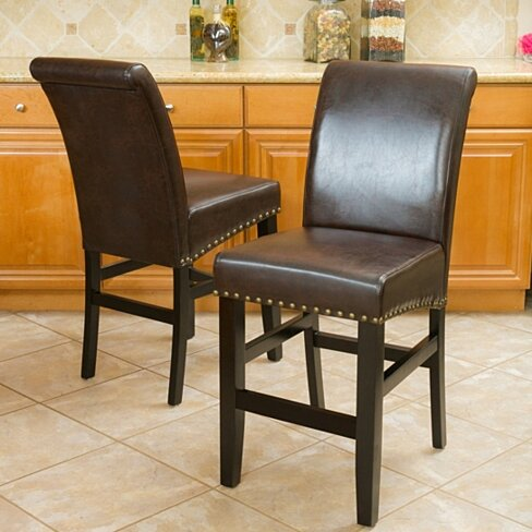 Clifton Brown Leather Counter Stool (Set of 2)