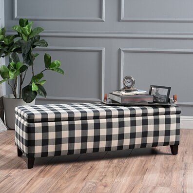Colby Fabric Storage Ottoman Bench