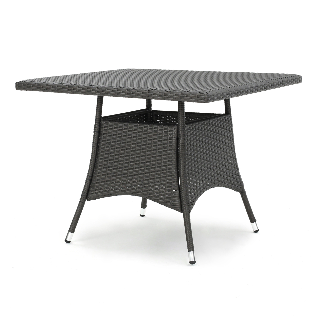 Colonial Outdoor Grey Wicker Square Dining Table