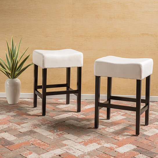 Coventry 26 Inch Fabric Backless Counter Stool Set Of 2