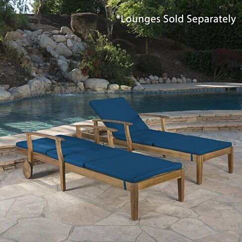 Daisy Outdoor Water Resistant Chaise Lounge Cushion (Set of 2)