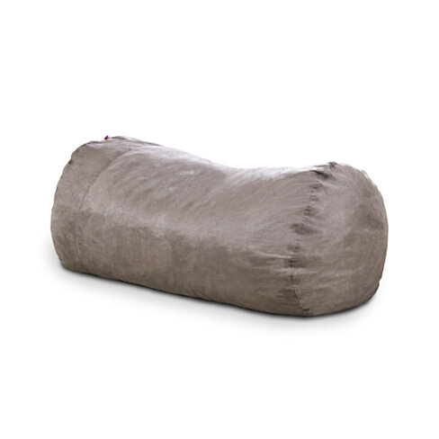 David Grey Faux Suede 8 Foot Lounger Bean Bag
