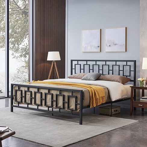 Dawn Modern Iron King Bed Frame