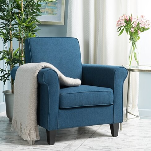 Declan Padded Fabric Club Chair