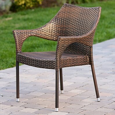 Del Mar Outdoor Wicker Chairs (Set of 2)