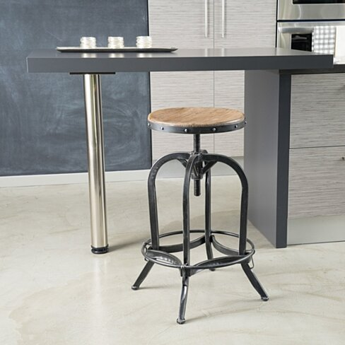 Dempsey Industrial Design Adjustable Height Swivel Seat Stool