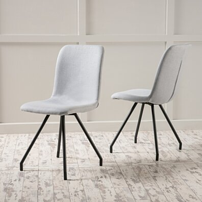 Denise Austin Home Bethany Light Grey Fabric Dining Chair (Set of 2)