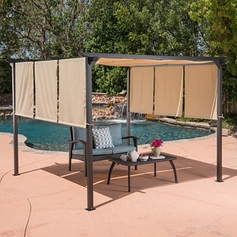 Dione Outdoor Steel Framed 9.5by9.5-foot Gazebo