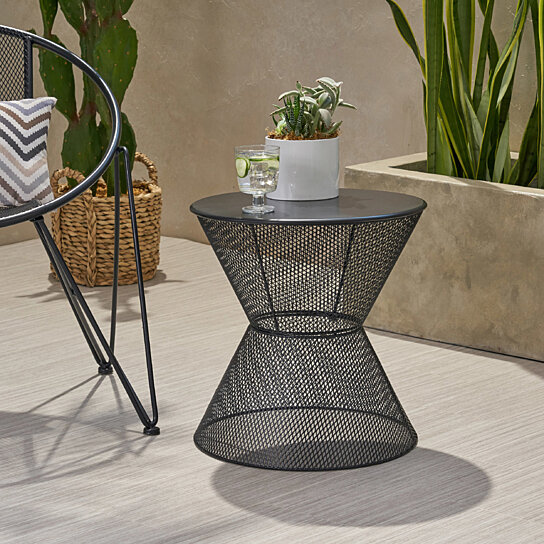 Buy Doreen Modern Outdoor Iron Side Table By Gdfstudio On Dot Bo