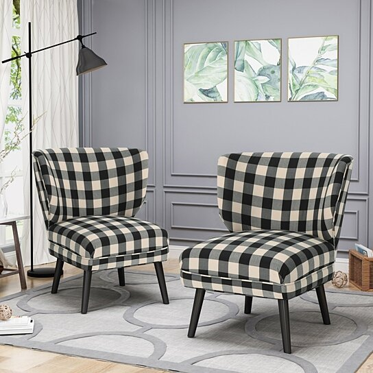 Modern Formal Living Room, Buy Dumont Modern Farmhouse Accent Chairs Set Of 2 By Gdfstudio On Dot Bo