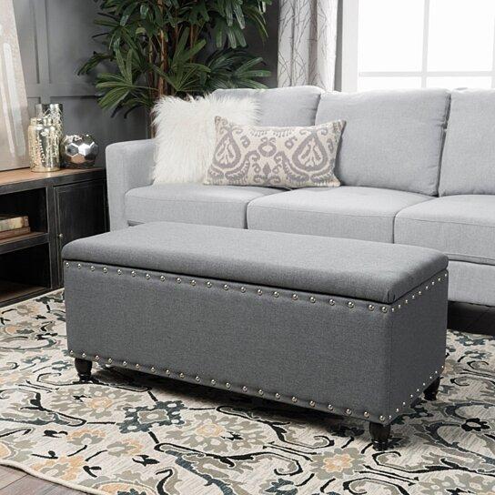 Buy Dynasty Fabric Storage Ottoman by GDFStudio on Dot Bo