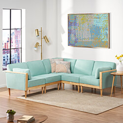 Edwin Contemporary Sectional Sofa Set