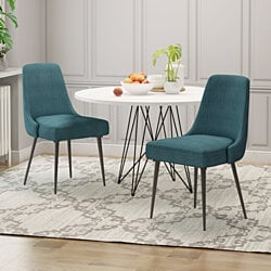 Ella Modern Fabric Dining Chairs (Set of 2)
