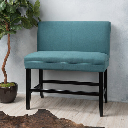 Buy Emilia 28 Inch Fabric Padded Barstool Bench By Gdfstudio On Dot Bo