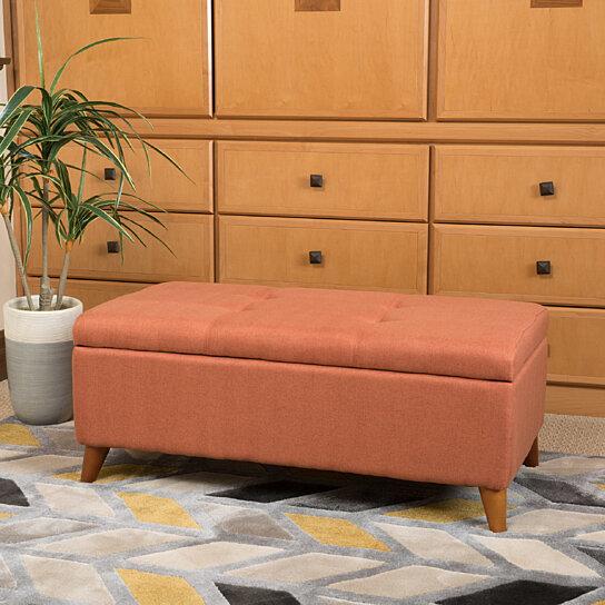 Buy Etoney Contemporary Fabric Storage Ottoman By