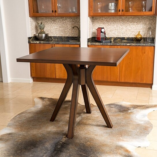 buy fulton square counter height wood dining table by gdfstudio on dot bo - Square Wood Dining Table