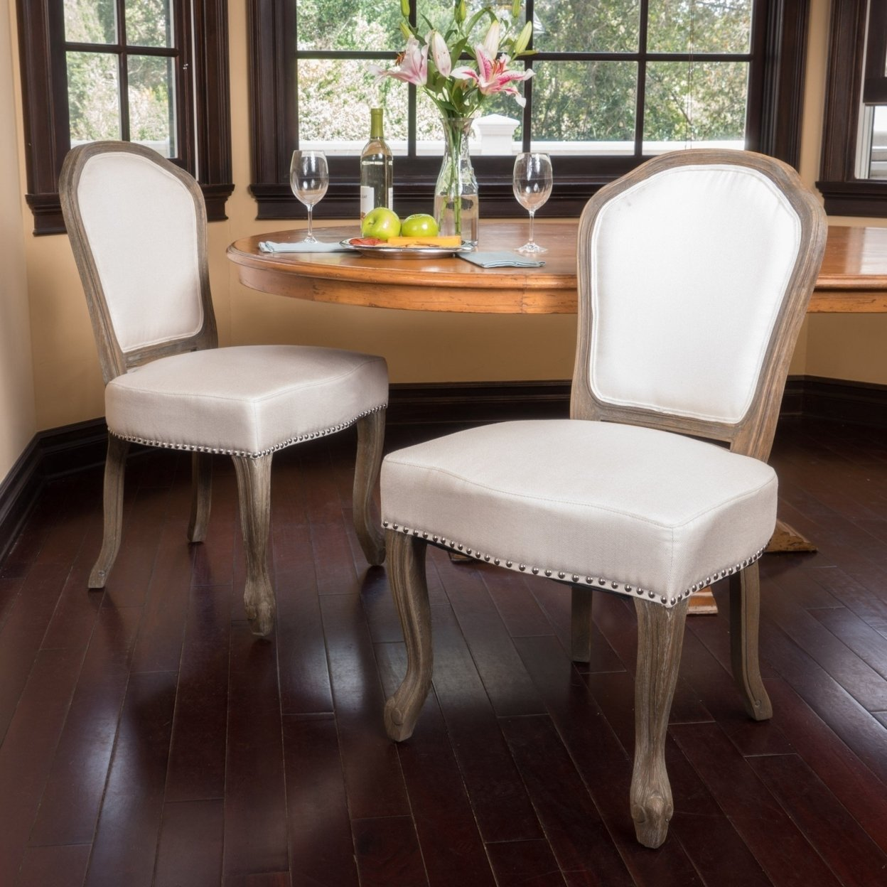 Gondor Classic D+cor Fabric Dining Chair (set Of 2)