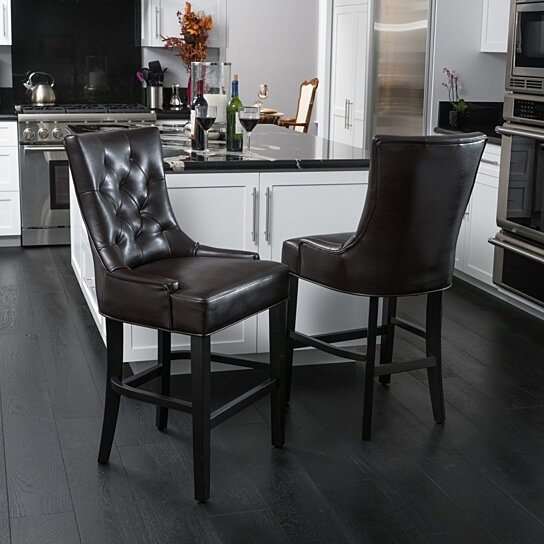 Buy Gryphon Brown Bonded Leather Counter Stools Set Of 2