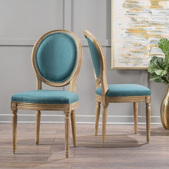 Buy Dining Chair: Buy Hawthorne Fabric Dining Chair (Set Of 2) By GDFStudio