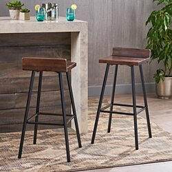 Hazel Indoor Bar Stools, Modern, Contemporary (Set of 2)