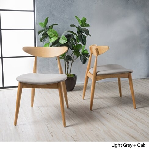 Issaic Mid-Century Modern Dining Chairs (Set of 2)