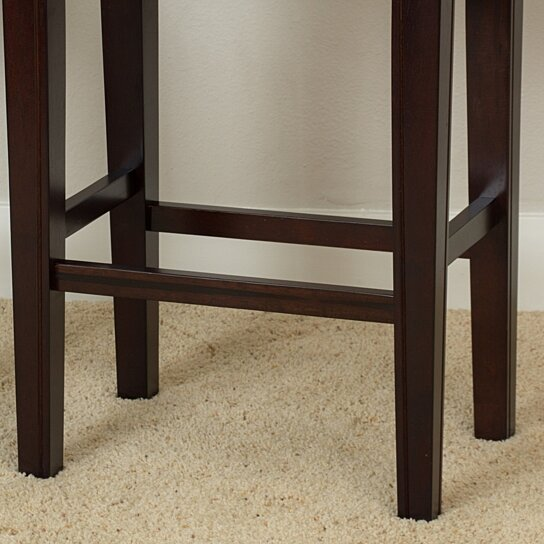 Buy Jaeden Backless Brown Leather 26 Inch Counter Stools