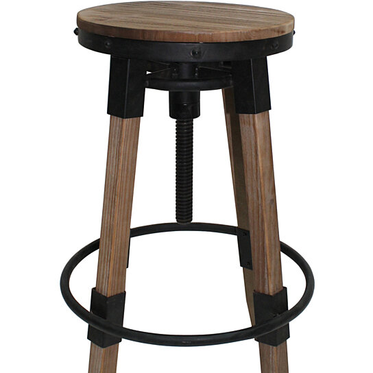Swell Javadel Antique Finish Firwood Adjustable Barstool Pdpeps Interior Chair Design Pdpepsorg