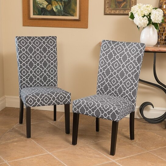 Buy Jericho Quality Crafted Fabric Dining Chair (Set Of 2