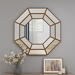 Joe Modern Raised Octagon Mirror with Accents