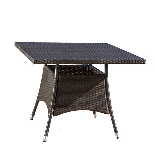 Buy kanasca outdoor multi brown polyethylene square dining for Great deals on outdoor furniture