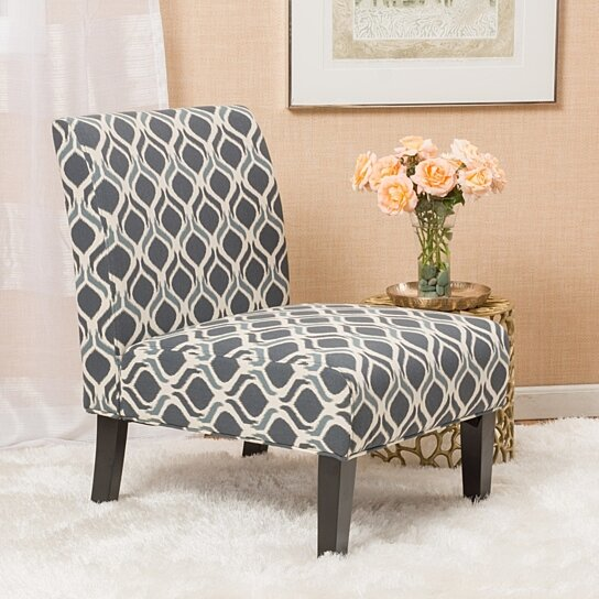 Buy Kendal Blue Navy Fabric Accent Chair Set Of 2 By Gdfstudio On