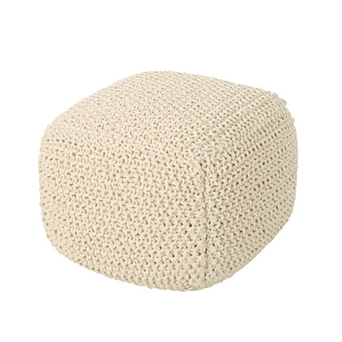 Knox Knitted Cotton Pouf