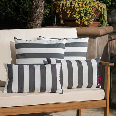 La Jolla Outdoor Water Resistant Square and Rectangular Throw Pillows - Set of 4