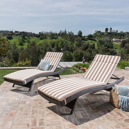 terrific varaschin summer set lounge chair white   Buy Lakeport Outdoor Water Resistant Chaise Lounge ...