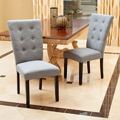 Leighton Grey Fabric Dining Chairs (Set of 2)