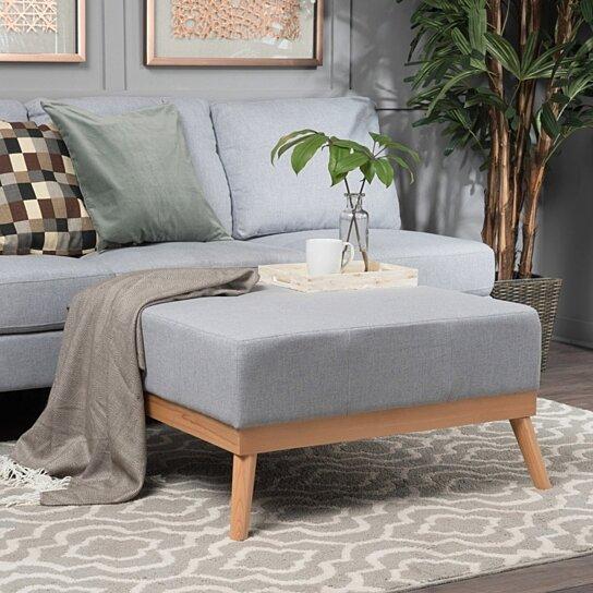 Astounding Lou Mid Century Fabric Ottoman Machost Co Dining Chair Design Ideas Machostcouk