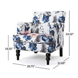 Manon Floral Print Fabric Club Chair