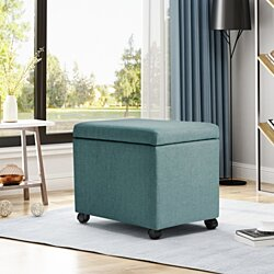 Mateo Traditional Home Office Fabric File Storage Ottoman