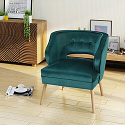 Michaela Mid Century Velvet Accent Chair