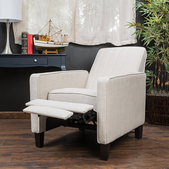 Cheap Recliner Sofas For Sale Triple Reclining Sofa Fabric: Buy Nathan Light Beige Fabric Club Chair Recliner By