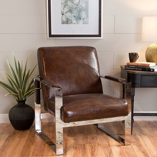 Superior Buy Niagra Vintage Brown Leather Industrial Armchair By GDFStudio On Dot U0026  Bo