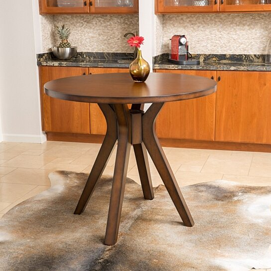 Buy noel round counter height solid wood dining table by for Solid wood round kitchen table