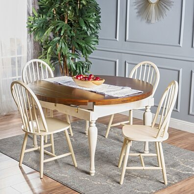 Oakley 5 Piece Dark Oak and Antique White Dining Set. Home   Furniture   Kitchen   Dining   Kitchen   Dining Sets