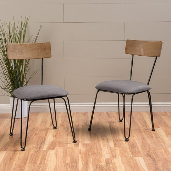 Owen Metal Frame Chairs With Cushion Set Of 2