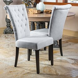 Paulina Light Grey Fabric Dining Chairs (Set of 2)