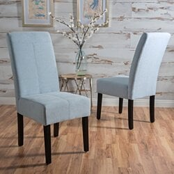 Lissa Contemporary T-Stitch Upholstered Dining Chairs (Set of 2)